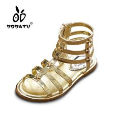 f2765d1c470dd HOBIBEAR Summer Girl Sandals Gladiator EU Breathable Bright Girl kids Shoes  Fashion Children waterproof Shoes LU225-in Sandals from Mother   Kids on ...