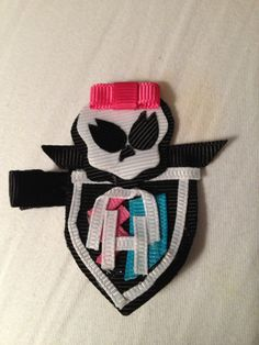Monster high logo hair clip by oliveandava on Etsy, $8.00