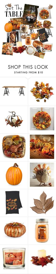 """""""Happy Thanksgiving"""" by miacostales ❤ liked on Polyvore featuring interior, interiors, interior design, home, home decor, interior decorating, Improvements, Pier 1 Imports, Bliss Studio and Holiday Memories"""