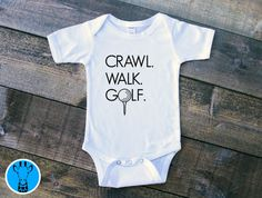 Crawl Walk Golf baby Bodysuit Baby Boy Clothes Golf Baby