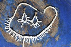 Vintage 1970's White Angel Skin Branch Coral Necklace & Pierced Post Earring Set