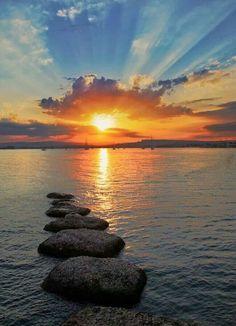 Syracuse NY Sunset on the lake. Which one I wonder?