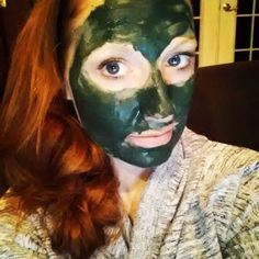 Decided to do a little green goddess mask tonight because my skin is freaking out(i drove down a dusty road with my jeep top down - i knew id break out!)This stuff is strong, it will suck debris right out of your face and replace it with nutrients!  #greengoddessmask #spirulina #frenchgreenclay #greenbeauty #plantbased #vegan #naturalskincare #beauty #halloweenapproriate