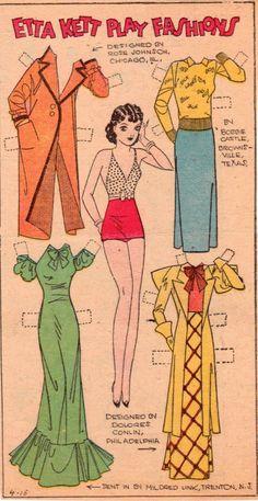 Etta Kent Fashions, April 15, 1934 Philadelphia Record.   (1 of 1)  Source: The Paper Collector