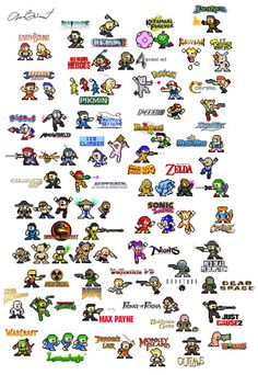 Video game characters as Mega Man Sprites - Imgur