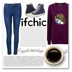"""""""ifchic"""" by yesanastasia1919 ❤ liked on Polyvore featuring moda, Markus Lupfer, Ally Fashion e Converse"""