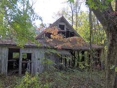 Eerie Indiana: Abandoned and ruined house, Clarksville, Indiana
