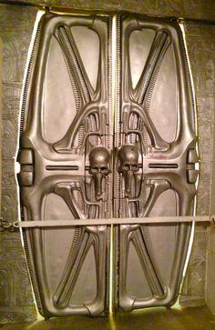 Futur door in Giger Museum, by Giger, Gruyères Switzerland