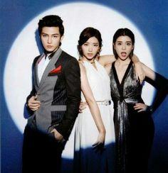 Aaron Yan, Puff Guo and Tia Lee