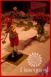 Cumpleaños con tematica de circo.