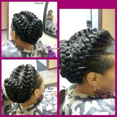 Pleasant Two French Braids Braids With Weave And French Braids On Pinterest Hairstyles For Women Draintrainus