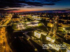 """Teren @MuzeumSlaskie w #Katowice widziany """"okiem"""" drona (fot. DroneLand.pl)"""