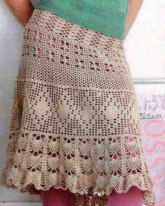 Irish crochet &: Юбка