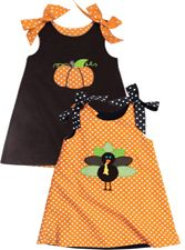Reversible dress for Halloween and Thanksgiving...