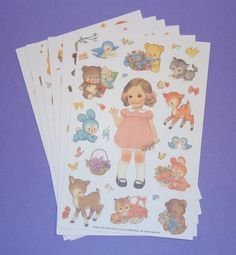 Paper Doll Stickers $3.75, via Etsy.