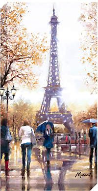 John Lewis Richard Macneil - Eiffel Tower Print on Canvas, 80 x Great Paintings, Beautiful Paintings, Multi Canvas Painting, Paris Painting, Oil Painting Pictures, France Art, Around The World In 80 Days, Paris Art, Types Of Painting