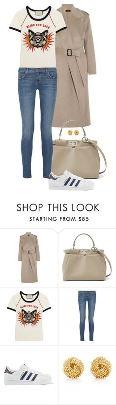 """""""Blind For Love."""" by foreverforbiddenromancefashion ❤ liked on Polyvore featuring Joseph, Fendi, Gucci, Current/Elliott, adidas Originals and Tiffany & Co."""