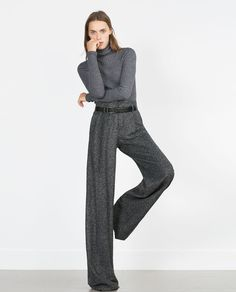 High waisted and wide leg - how forgiving if you have a bit of a tum!! Easy to wear and on trend - Zara