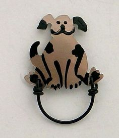 Puppy Dog Magnetic Eyeglass holder by LauraWilsonGallery on Etsy, $45.00