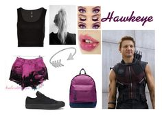 """""""Hawkeye - Causal"""" by blackest-raven ❤ liked on Polyvore featuring Converse, Blu Bijoux, Mi-Pac, women's clothing, women, female, woman, misses and juniors"""