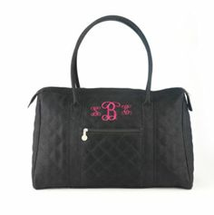 """City Tote - Black 20""""W x 12.5""""H x 9""""D Simply Stunning! Two exterior pockets; large, roomy interior; top zipper closure with double zipper pulls. Quilted Pebbled Faux Suede."""
