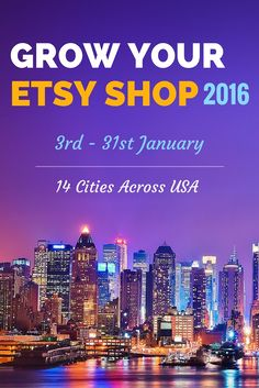 ****** A free event exclusively for Etsy sellers ****** Let's meet & discuss how to grow your Etsy shop in 2016. We'll talk about: 6 SEO pointers that get you sales, the step-by-step process of buying from buyer's perspective and how to implement these two together to increase relevant organic traffic (hands-on workshop).  I am here as part of my Etsy Seller Meetup Road Trip (across 14 cities in US, ~4500 miles).