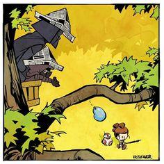 Star Wars Calvin & Hobbes mashup
