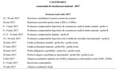 Profu`economist: Bacalaureat 2017 Calendar, Life Planner
