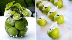 pommes vertes décoration table