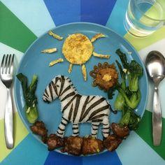 essen nahrung reis dekorieren zebra sonne