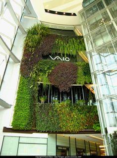 Siam Paragon Mall in Bangkok greened by Patrick Blanc
