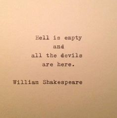 I love William Shakespeare