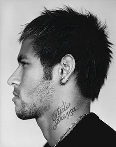 Neymar Covers WSJ Magazine in Calvin Klein Obsession Top image Neymar WSJ Magazine 004 Mens Hairstyles 2014, Soccer Hairstyles, Hairstyles Haircuts, Grunge Hairstyles, Brazilian Soccer Players, Good Soccer Players, Neymar Jr Wallpapers, Korean Men Hairstyle, Text Tattoo