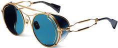 Gentle Monster's Steampunkish Sunwear Style Ground Zero Stylish Sunglasses, Round Sunglasses, Mirrored Sunglasses, Sunglasses Women, Sunglasses Sale, Steampunk Goggles, Steampunk Sunglasses, Cool Glasses, Eye Glasses