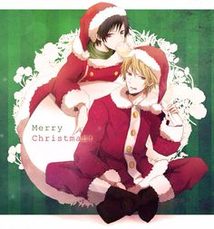 Anime boys, , Orihara Izaya, ,Heiwajima Shizuo, ,Durarara!!, , DRRR!!, , izaya, , shizuo, , shizaya, , shizuo x izaya, , Christmas, , christmas
