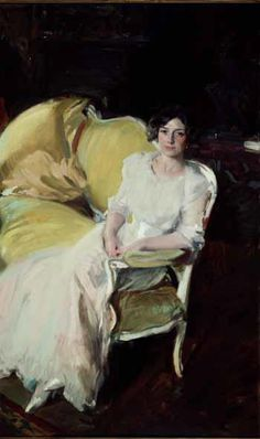 Joaquin Sorolla y Bastida Clotilde Seated on the Sofa painting is shipped worldwide,including stretched canvas and framed art.This Joaquin Sorolla y Bastida Clotilde Seated on the Sofa painting is available at custom size. John Singer Sargent, Sargent Art, Frank Stella, Spanish Painters, Spanish Artists, Figure Painting, Painting & Drawing, Painting Clouds, Hans Holbein