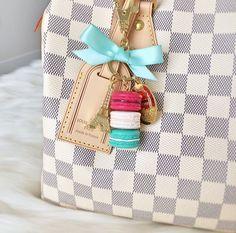 Louis Vuitton Speedy and Laduree keychain