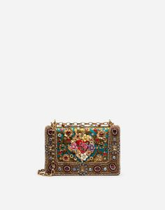 DG GIRLS BAG IN ORNAMENTAL JACQUARD WITH EMBROIDERY AND APPLIQUÉS Dolce & Gabbana, Dolce And Gabbana Bags, Elie Saab, Tote Purse, Crossbody Bags, Diy Purse, Girls Bags, Gold, Embroidery