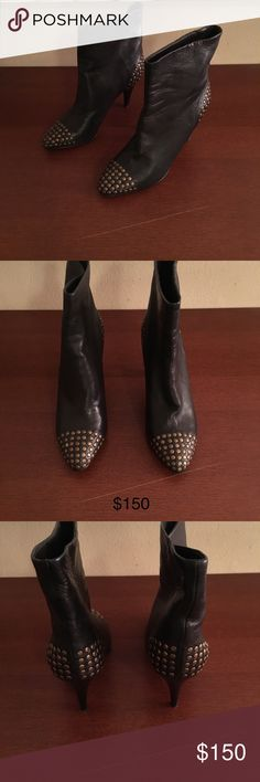 100% Authentic See By Chloe Boots Gently used 8/10. 100% Authentic See by Chloe black boots with gold studs. Size 37.5. Feel free to message me with any questions or offers. Seriously inquiries only. No low balls. See By Chloe Shoes Ankle Boots & Booties