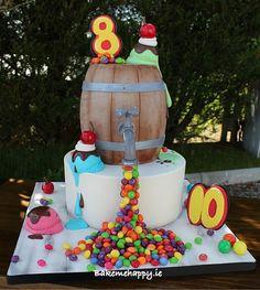 Skittles and ice-cream cake - Cake by Elaine Boyle....bakemehappy.ie