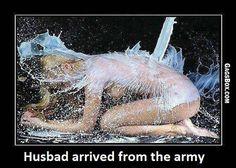 Husband arrived - #funny, #lol, #fun, #humor, #gag, #lolpics, #funnypics,