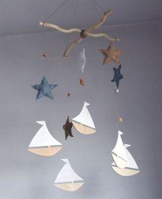 Segelboot Kinderzimmer Baby mobile Segelboot Mobile von decopilot