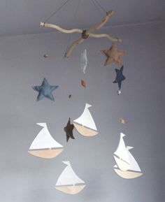 Baby Crib Mobile Baby mobile Sailboat Mobile nursery by decopilot