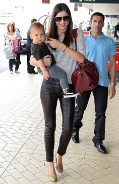 Miranda Kerr And Son Flynn Catching A Flight In Sydney