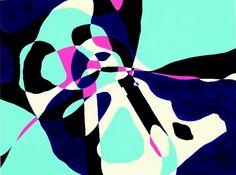 平面構成「シルエットによる構成(蓮根・フック)」|在学生作品集|芸大・美大受験予備校|河合塾美術研究所