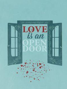 frozen.. disney.. love is an open door by studiomarshallarts, $5.00