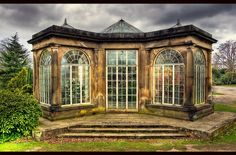 Very nice design greenhouse conservatory Victorian Greenhouses, Wooden Greenhouses, Best Greenhouse, Old Window Greenhouse, Conservatory Garden, She Sheds, Garden Structures, Interior Exterior, Outdoor Rooms