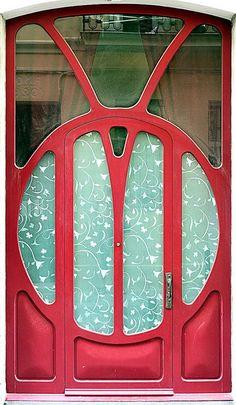 Door Art Nouveau in Barcelona - Spain Art Nouveau, Art Deco, Cool Doors, Unique Doors, Stairs Window, Doorway, Portal, Wrought Iron Doors, Door Entryway