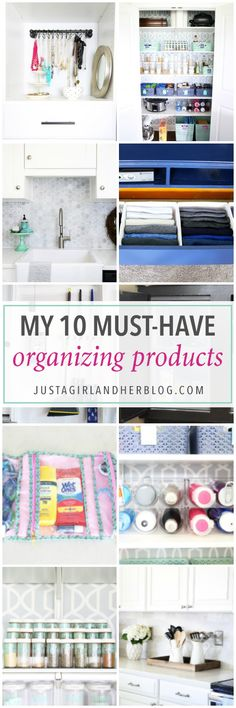 Home organization- Organize and declutter your home with these smart and simple storage solutions! organized, neat, tidy, straighten, clean up, stay organized, must-have organizing products