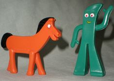 Pokey and Gumby I remember watching them when I was growing up!